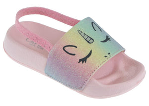 Toddler Girls Rainbow Unicorn Slip on Sandal