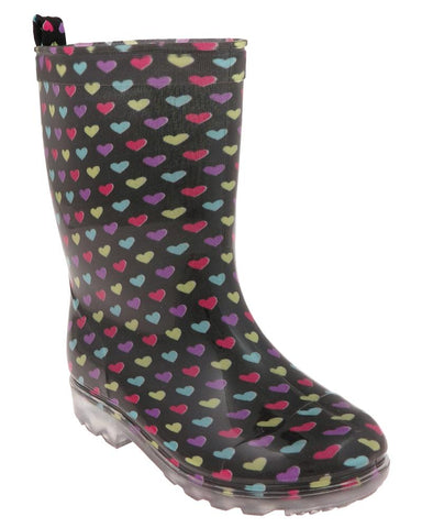 Girls Hearts Jelly Rain Boot