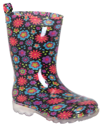 Girls Floral Jelly Rain Boot