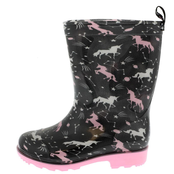 Girls Outer Space Unicorn Rain Boot