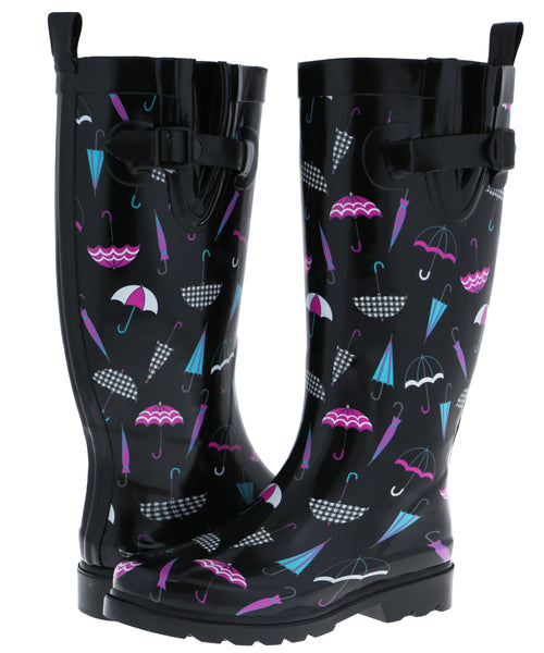 Ladies Umbrellas Tall Rubber Rain Boot