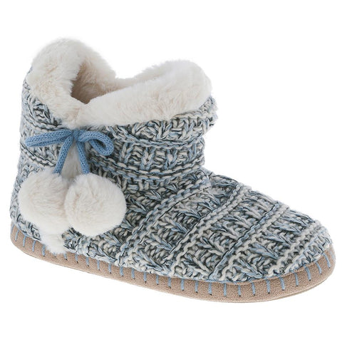 Ladies Woven Knit Slipper Boot