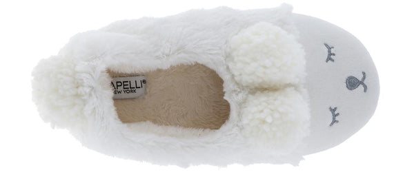 Ladies Faux Fur Sleeping Lamb Moccasin Slipper