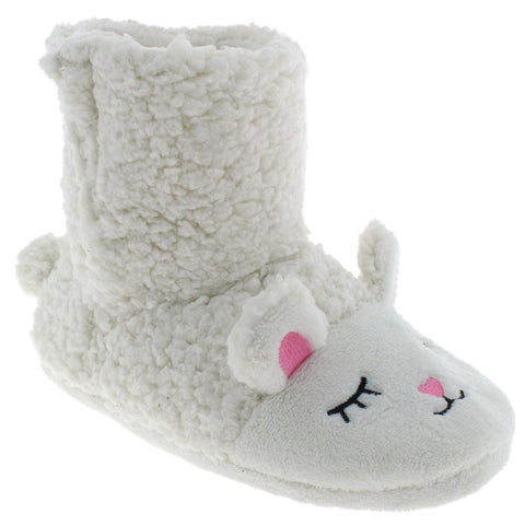 Ladies Faux Fur Sleeping Lamb Slipper Boot