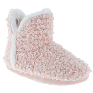 Ladies Blush Knit Slipper Boot
