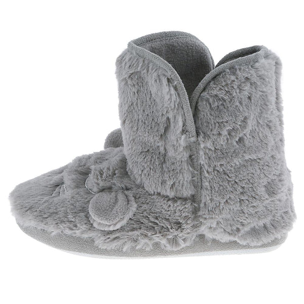 Ladies Faux Fur Sleeping Mouse Slipper Boot