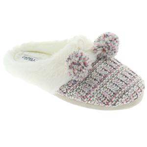 Ladies Knit Scuff Slip-On Slipper