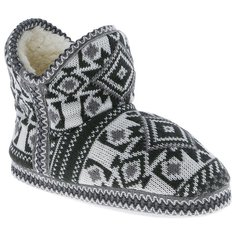 Ladies Tribal Knit Slipper Boot