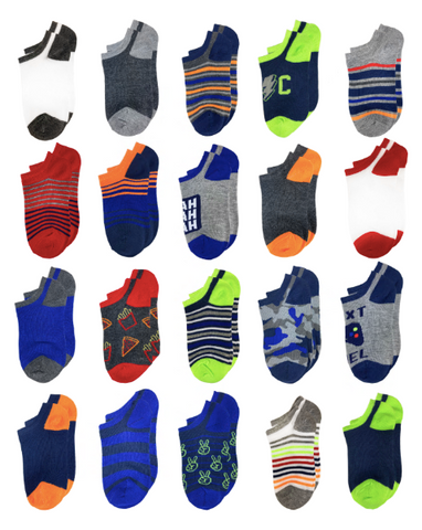 Dude Stuff 20 Pack No Show Socks
