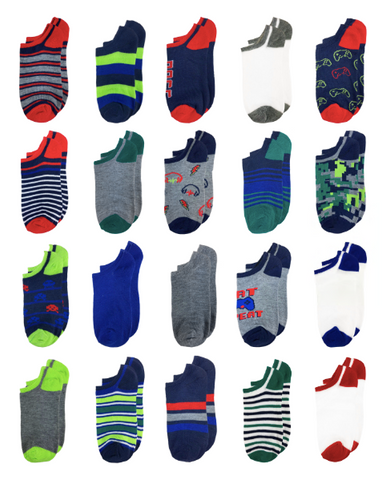 Gamer Vibes 20 Pack No Show Socks
