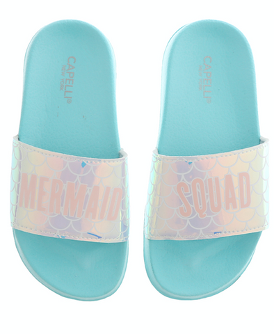 Girls Mermaid Squad Slip-On Slide Sandal