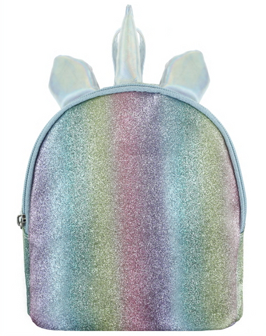 Unicorn Glitter Mini Backpack with Straps & 3D Parts