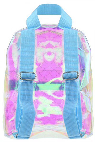 Mermaid Printed Jelly PVC Mini Backpack with Nylon Straps