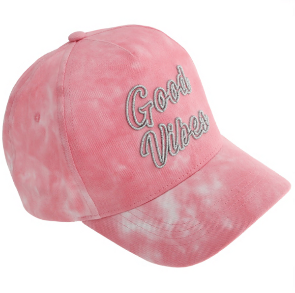 Good Vibes Tie-Dye Baseball Hat