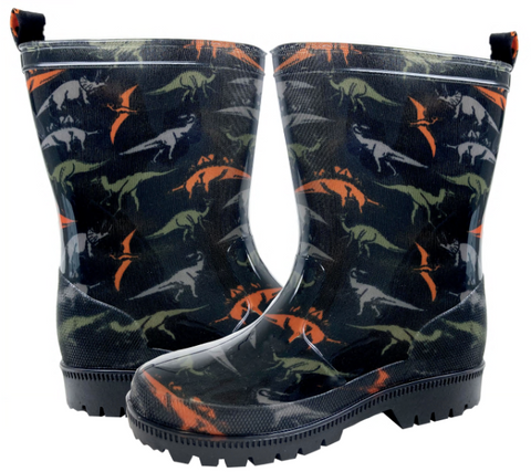 Boys Dinosaur Printed Rainboot