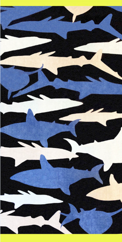 Shark Printed Beach Towel
