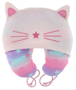 Hooded Neck Pillow with 3D Cat Ears