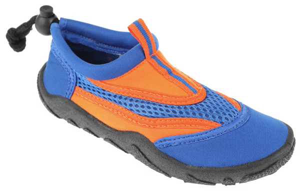 Boys Blue and Orange Aqua Shoes