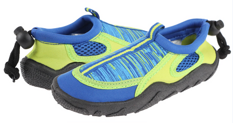 Boys Blue and Yellow Aqua Shoes