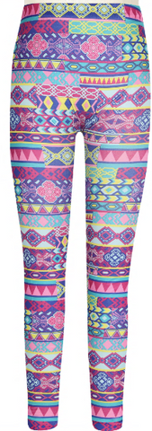 Girls Friendship Bracelet Printed Seamless Legging