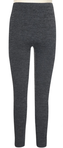 Girls Marled Fleece Lined Seamless Legging