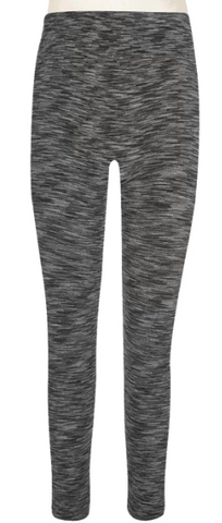 Girls Marled Faux Fur Lined Seamless Legging