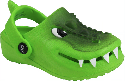 Boys 3D T-Rex Clog with Backstrap