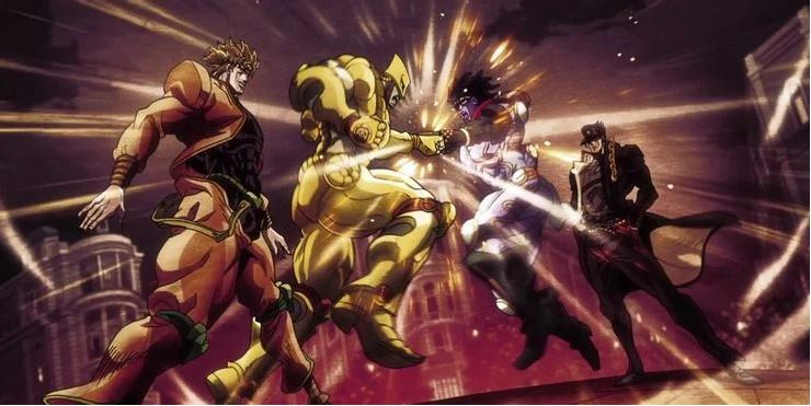 Dio The World vs Jotaro Kujo Star Platinum