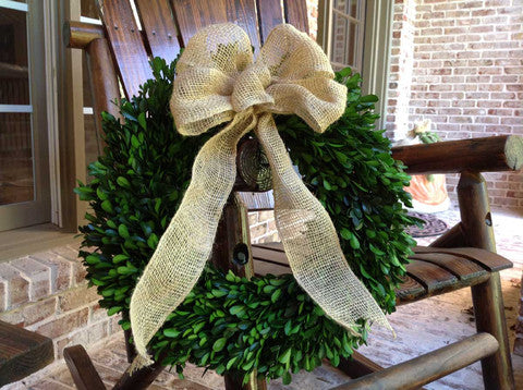 Decorated Preserved Boxwood Wreaths