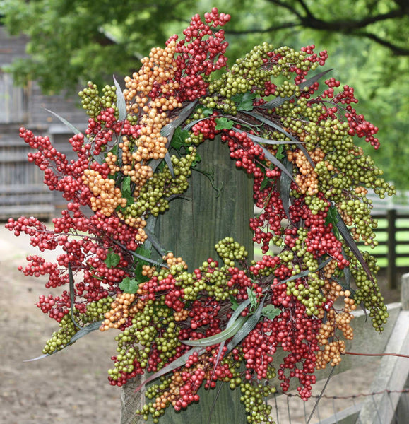 "24"" Bountiful Berry Wreath - Bliss - 1"