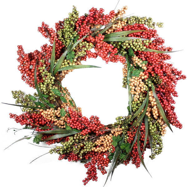 "24"" Bountiful Berry Wreath - Bliss"