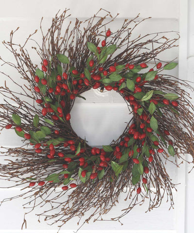 "Cranberry Wreath - 22"" - 1"
