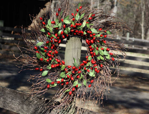 "Cranberry Wreath - 22"" - 3"