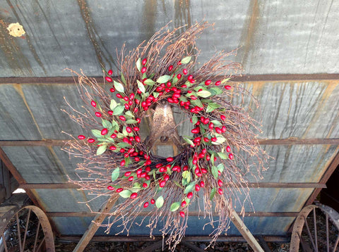"Cranberry Wreath - 22"" - 5"