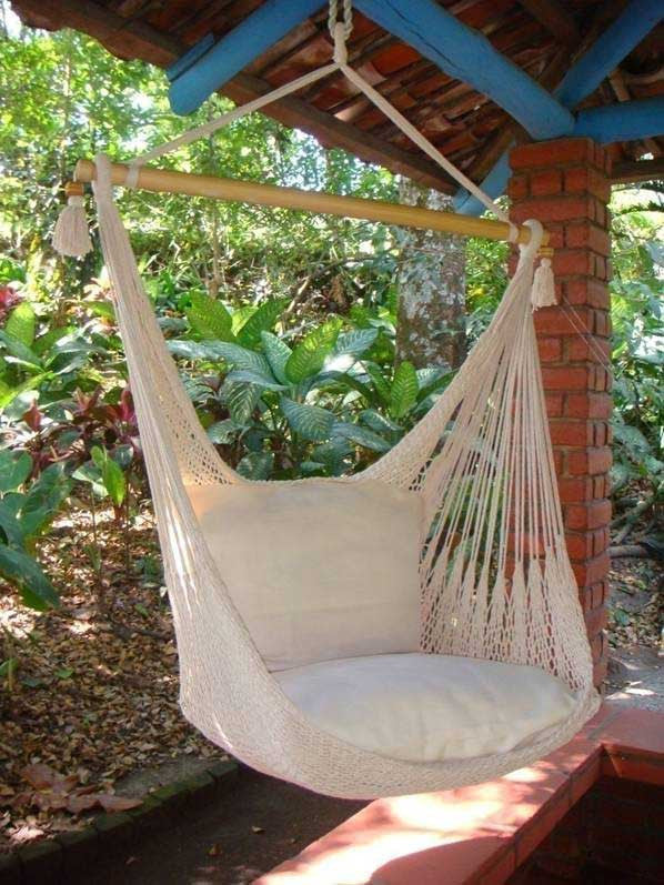 hanging hammock chair - sand dune – flora decor