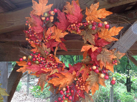 "Autumn Berry Wreath 22"" - 4"