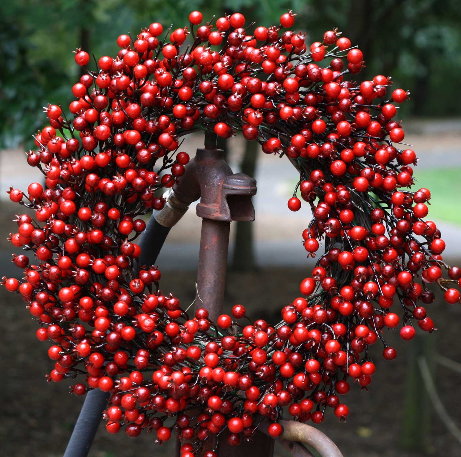 "22"" Festive Red Berry Wreath - 1"