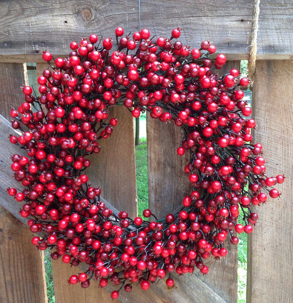 "22"" Festive Red Berry Wreath - 2"