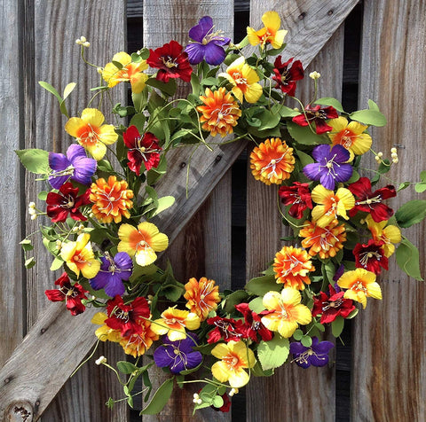 Flower Fields Wreath  - 24""