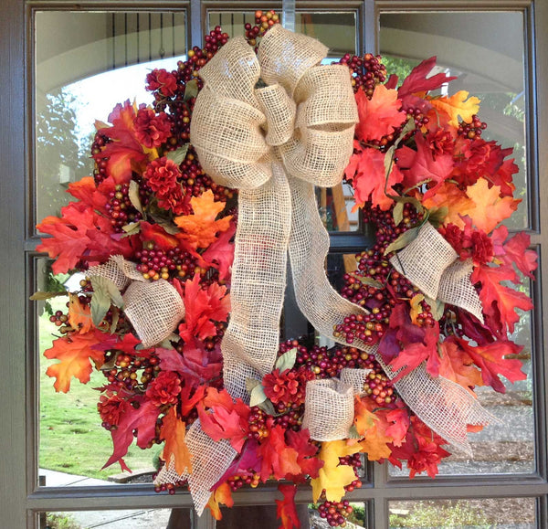 "Fall Mix Bittersweet Wreath - 24"" - 1"