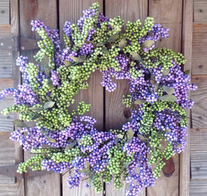 "Lavender Green Soft Touch Wreath - 24"" - 3"