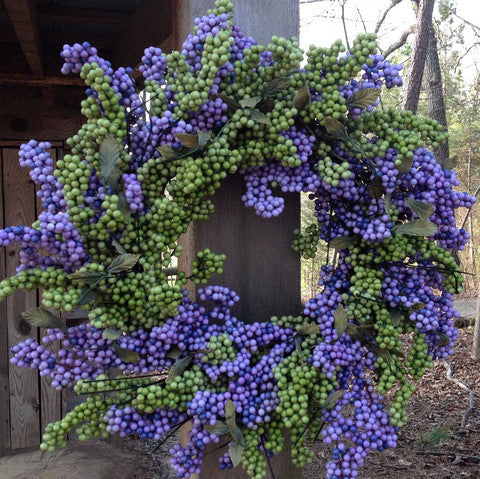 "Lavender Green Soft Touch Wreath - 24"" - 2"