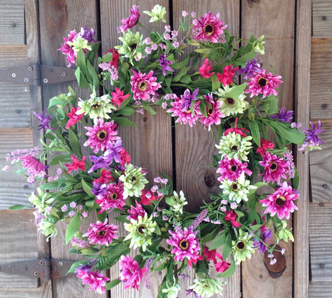 "Think Pink Wreath - 22"" - 1"