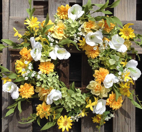 "Wild Meadows Wreath - 22"" - 1"