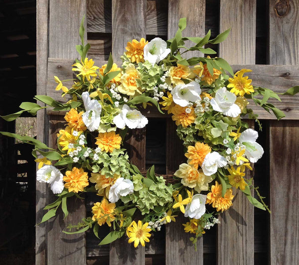 "Wild Meadows Wreath - 22"" - 2"