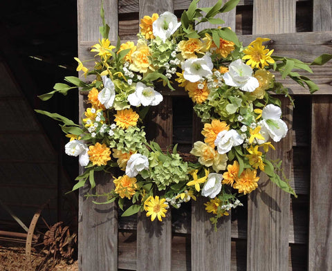 "Wild Meadows Wreath - 22"" - 4"