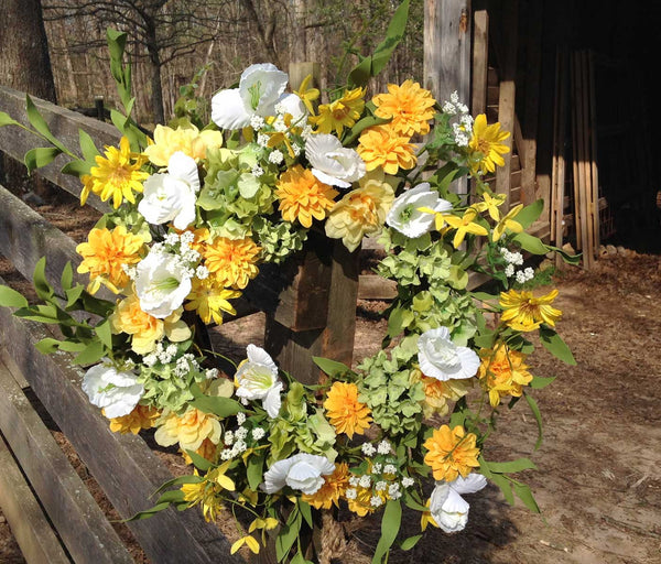 "Wild Meadows Wreath - 22"" - 3"