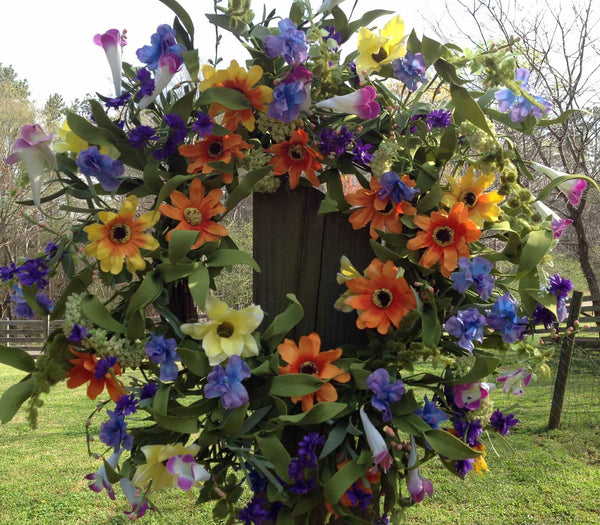 "Spring Delight Wreath - 22"" - 1"