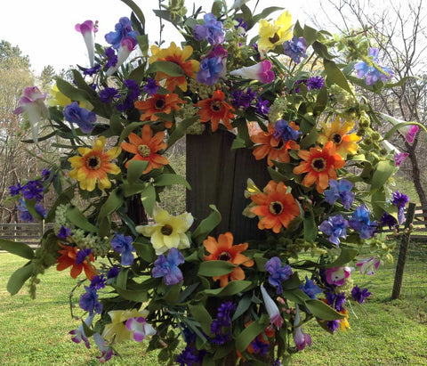 "Spring Delight Wreath - 22"" - 4"