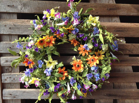 "Spring Delight Wreath - 22"" - 3"